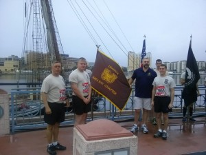 Soldier Recognition Tampa Gasparilla (WOA President CW5R Leo Venckus, WOA Secretary CW5 Rob Pitts)